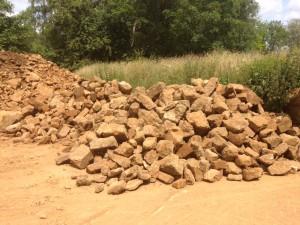 Reclaimed hornton building stone